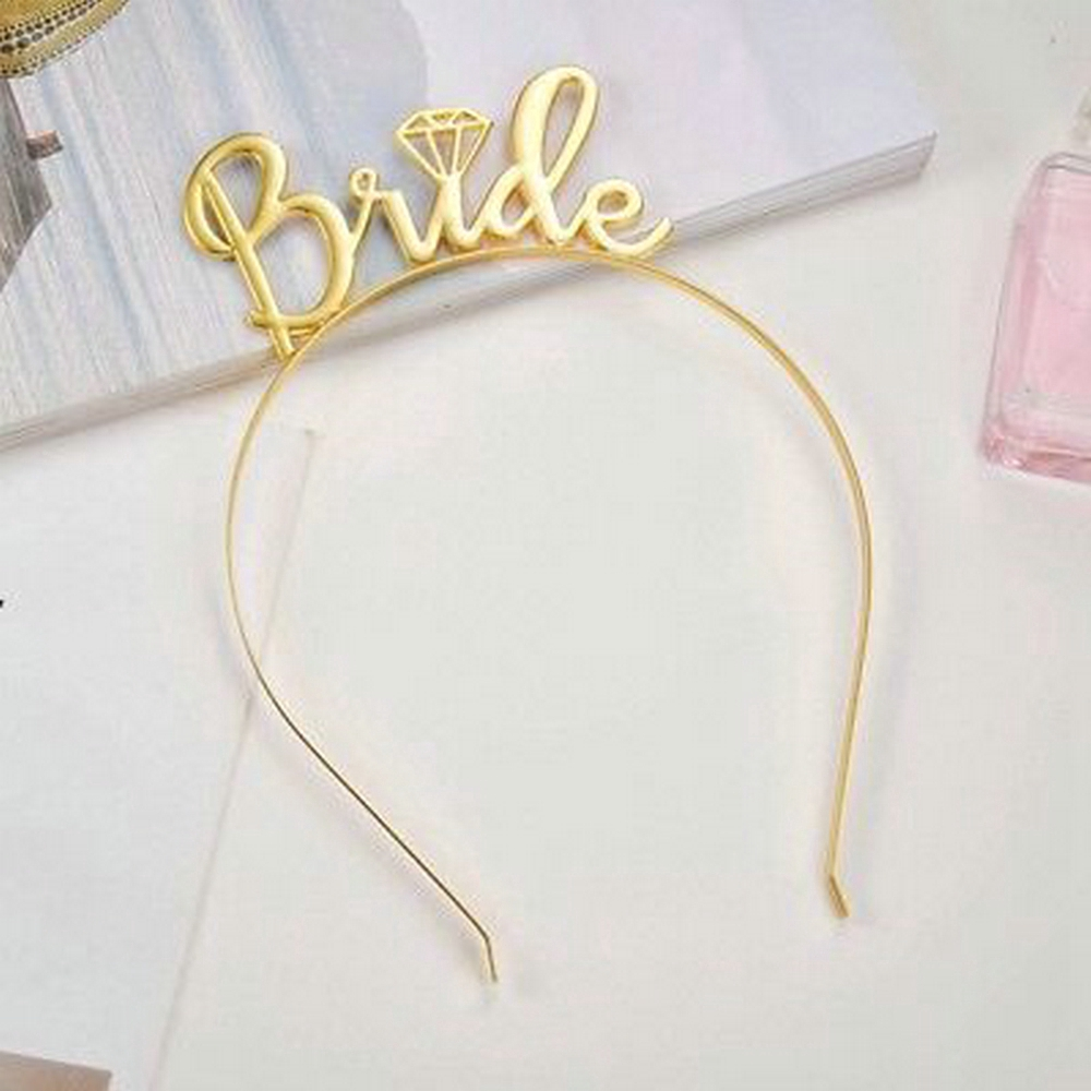 EG/_ Letters Bride Crown Women Hairband Headband Wedding Party Hair Accessory Exo