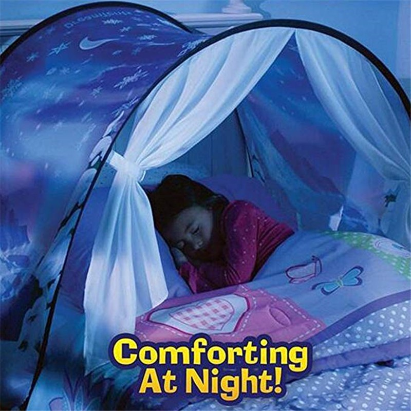 free shipping a9350 4ff2d Kids Dream Tents Foldable Galaxy Unicorn Pattern Tent Pop Up Bed Tent  Playhouse