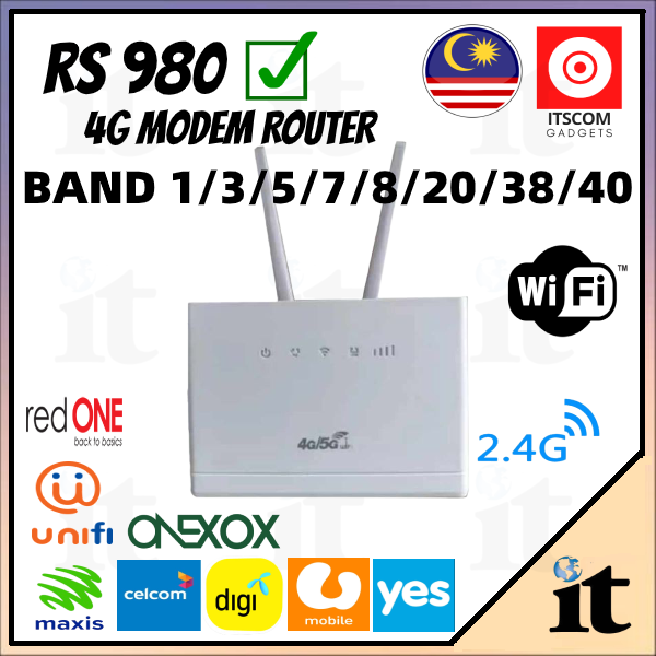 [Ready Stock] CPE300 LTE 4G Router Modem Modified /Unlimited Hotspot Router Modem AKA cp101 cp108 B310 B315 B525
