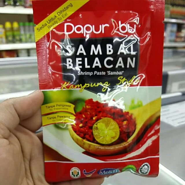 Freeshipping Kampungstylelicious 12 Packs X Sambal Belacan Dapur Ibu Sho Malaysia
