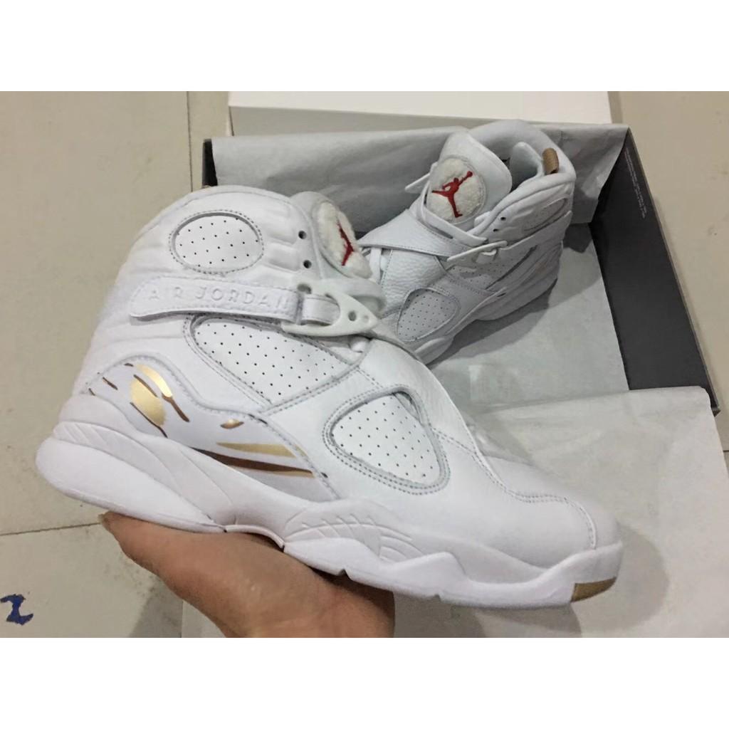 lowest price 70626 86f21 Air Jordan 8 OVO White/Metallic Gold-Varsity Red-Blur