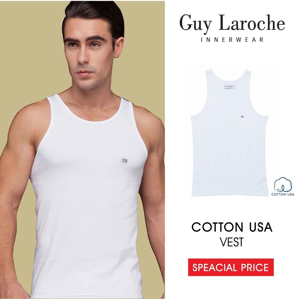 Guy Laroche เสื้อกล้ามชาย  สีขาว 100% Cotton รุ่นขายดี JV