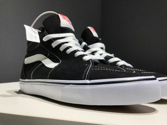 VANS SK8 HI SKATE BLACK WHITE [36-44 EURO]