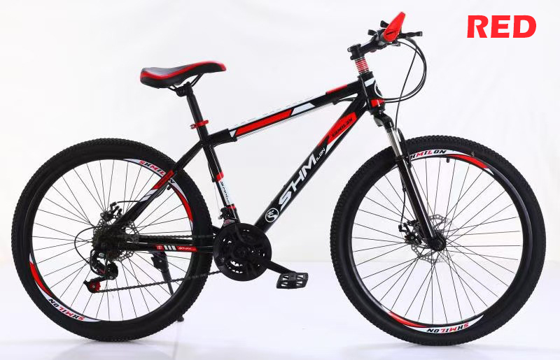 GDeal 26 Inch Mountain Bike Shock Absorber Bike Bicycle 21 Speed Disc Brake Variable Speed Mountain Bike