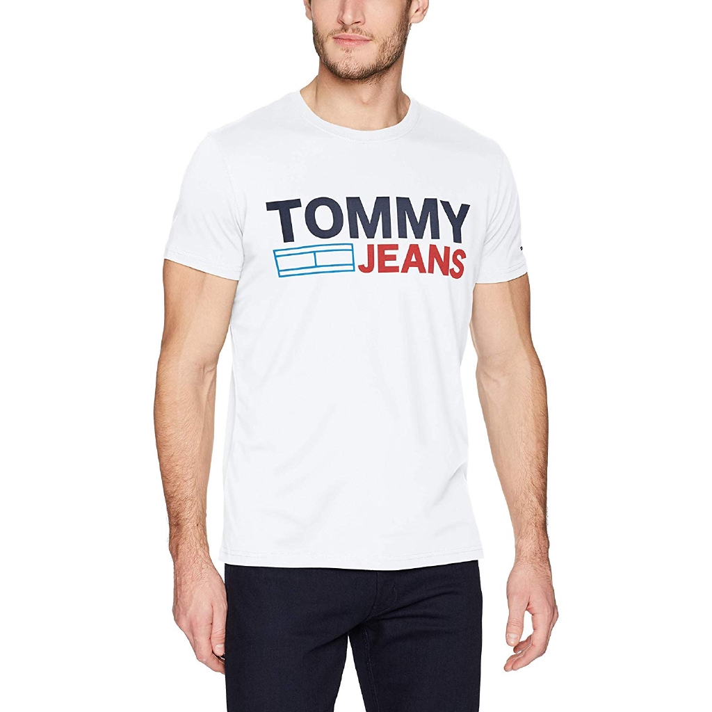91670d7ace0a Tommy Hilfiger Men's T Shirt Short Sleeve Logo Tee | Shopee Malaysia