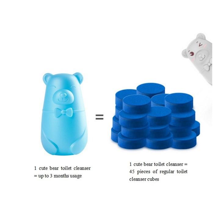 READY STOCK SHP] 80 PCS/SET TABLET PENCUCI TANDAS / Automatic Flush Super Toilet Cleaner Bear Blue Bubble Toilet Cleaner
