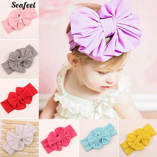 Clothing, Shoes & Accessories Aggressive Baby Toddler Girls Pink Floral Bowknot Hairband Turban Headband A Great Variety Of Models