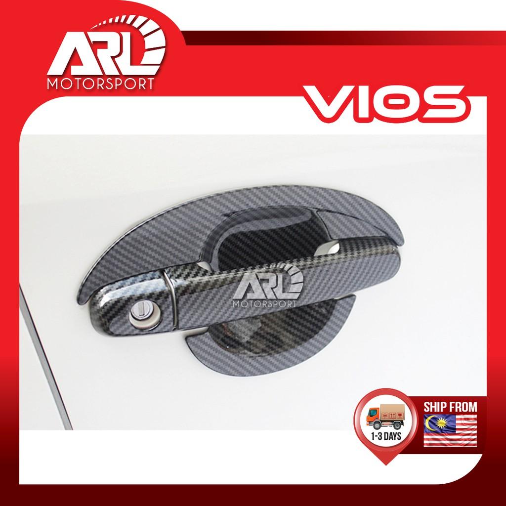 Toyota Vios (2013-2018) NCP150 Outer Handle Carbon Door Bowl Protector Carbon Fiber Car Auto Acccessories ARL Motorsport