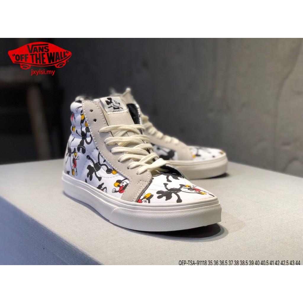 267b2e36c4 Vans Vault x Disney Mickey Mouse 90th OG Sk8-hi Black Women Shoe Sneaker