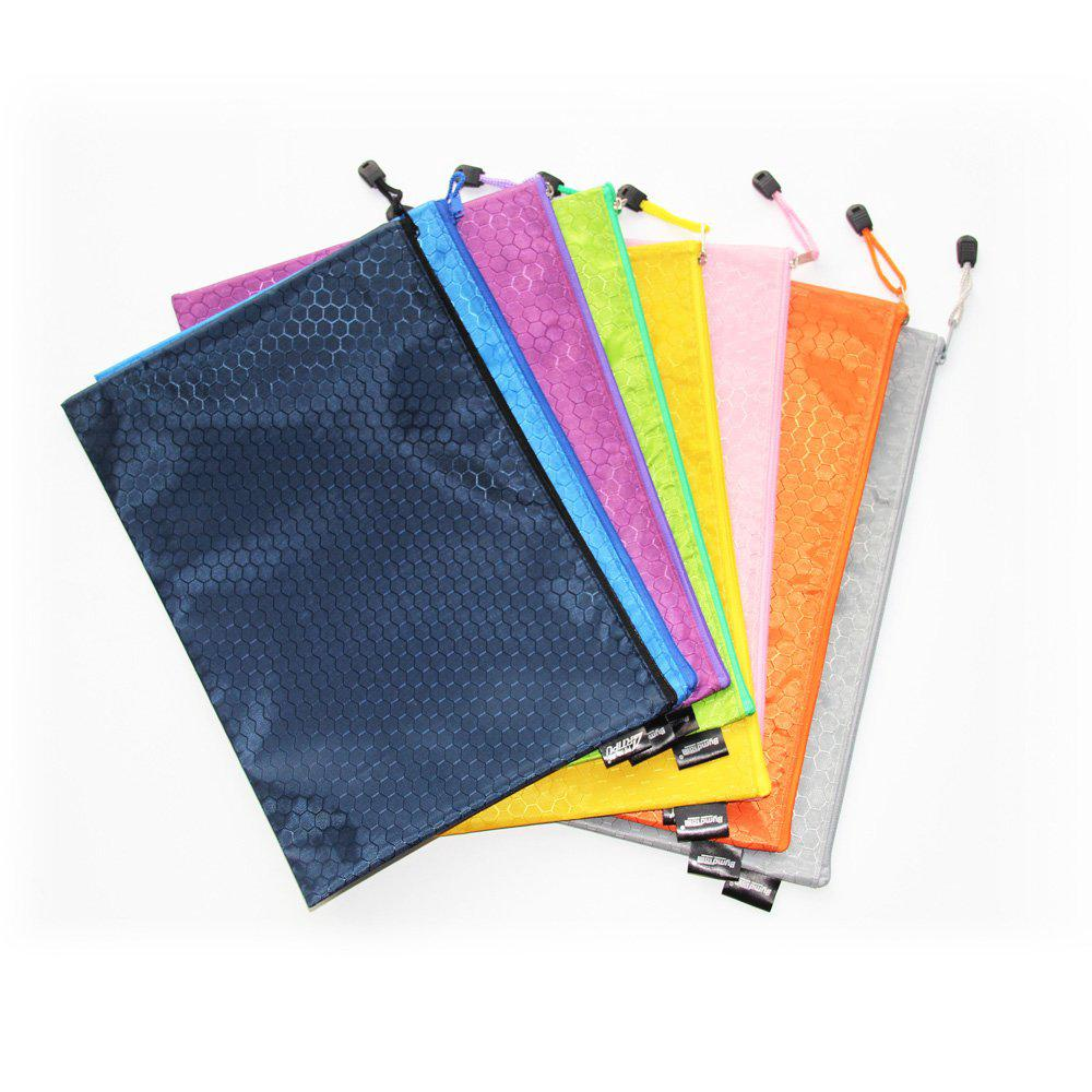 A4 Size Zipper File Bags File Holders 8 Colors Waterproof PVC Travel Pouch 8 Pcs | Shopee Malaysia