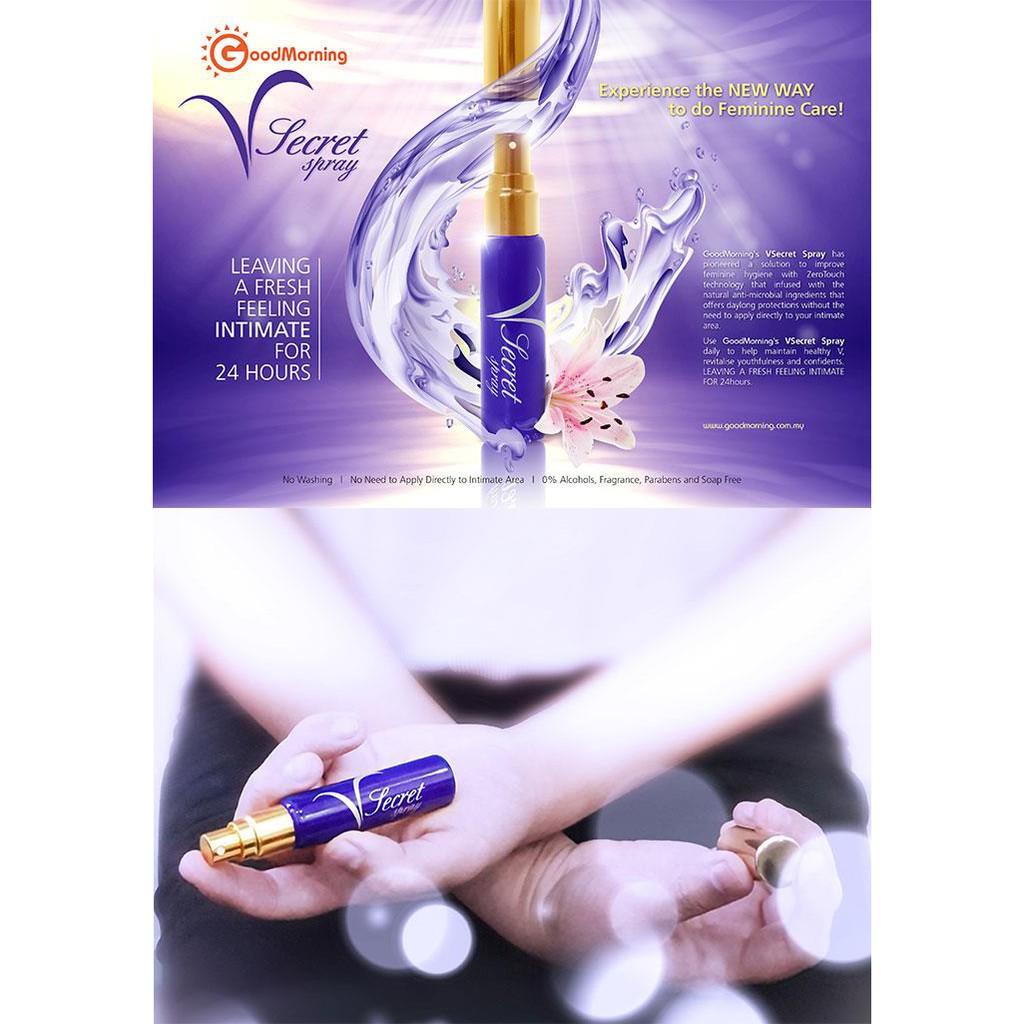 Good Morning VSecret Spray 6ml Feminine Care Spray Buy 2 FREE 1