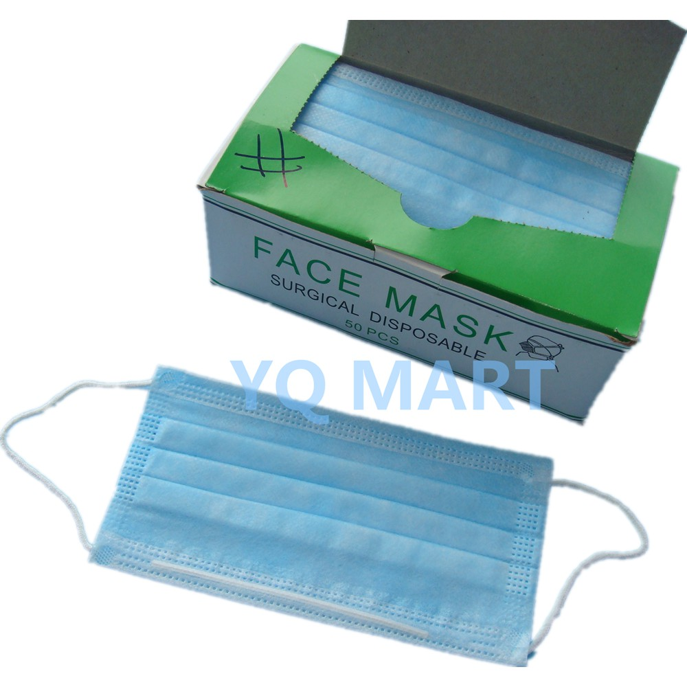 Mask Stock Earloop Of out 50pcs Surgical Mask Face -update Feb Disposable 3ply 2020