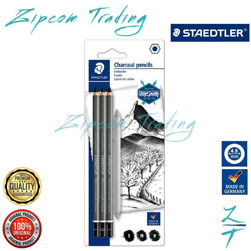 STAEDTLER Mars Lumograph Charcoal Pencils Set