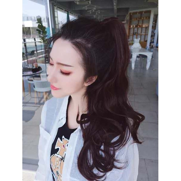 6cb680a5ed Pear flower long curly hair fake pony tail big wave | Shopee Malaysia