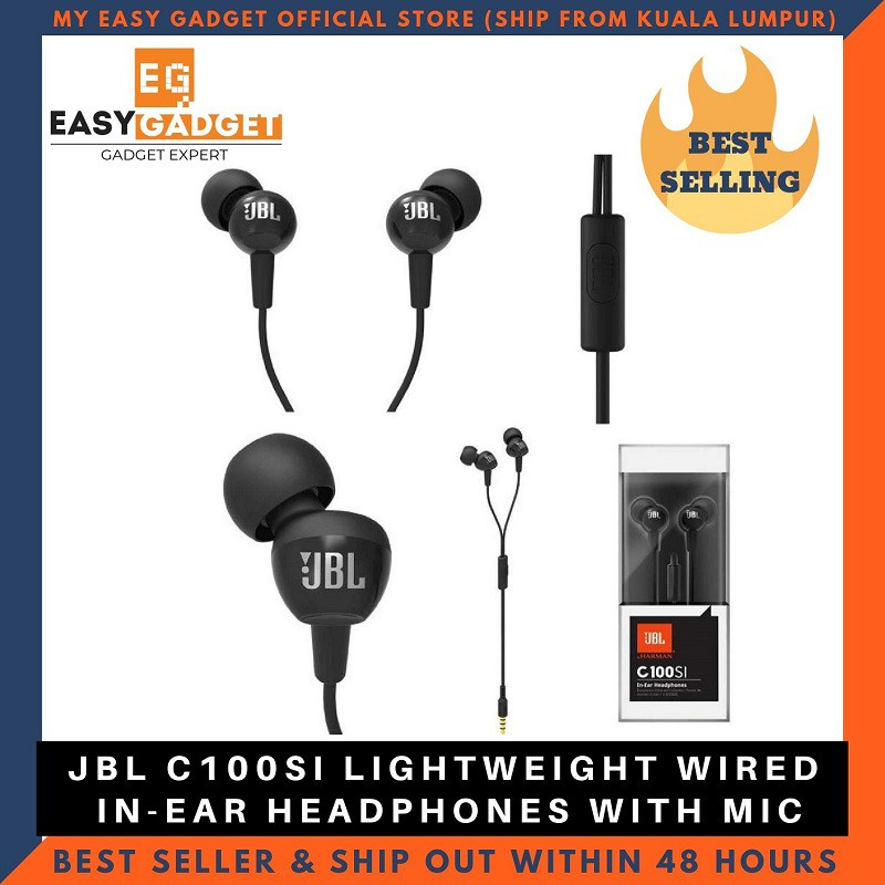 [Original] JBL C100SI In-Ear Headphones with Mic [SHIP FROM KL]