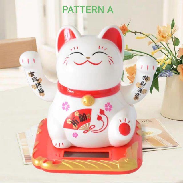 Solar Cat with Waving Hand / 太阳能招财猫