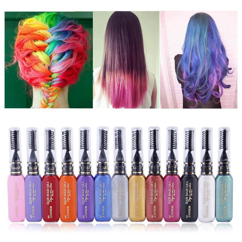 Hot Hair Color 12 Colors Hair Dye Non Toxic Diy Hair Cream Party Dye Pen
