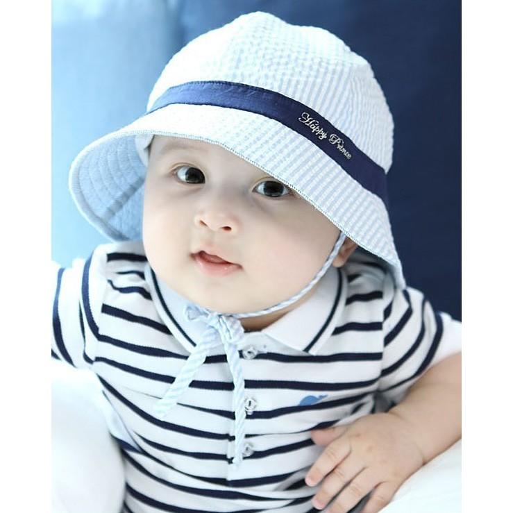 4a8db2c3 Kids Cotton Bucket Hat Summer Beach Sun Cap Fishermen Hat | Shopee Malaysia