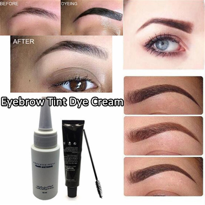 Natural Eyebrow Eyelash Color Tint Cream Kit Fast Tint Dye Cream Easy Dye  Long Lasting