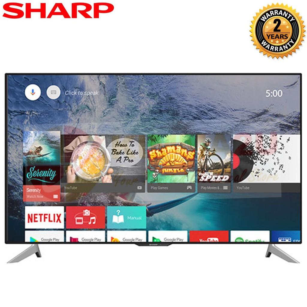 Sharp Lc 60ua6800x 60 4k Hdr Android Tv Shopee Malaysia Aquos Led Fhd 60le580x