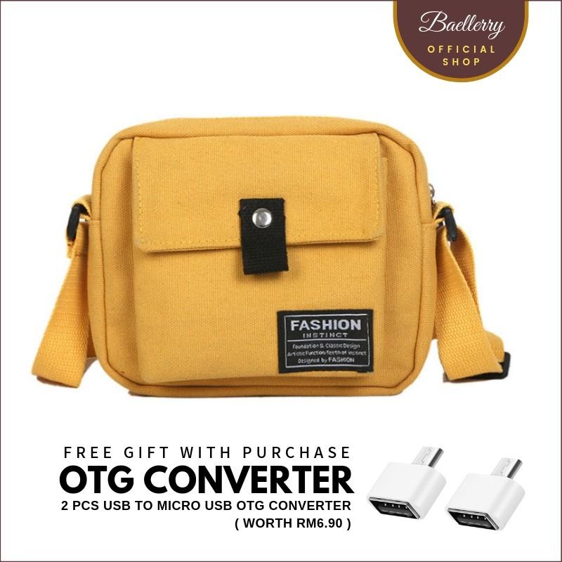 560386620 Women's Casual Canvas Sling Bag A0201 | Shopee Malaysia