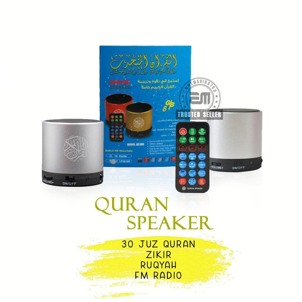 [READYSTOK] Mini Quran Speaker Radio FM Ruqyah Zikir 30 Juzuk Quran