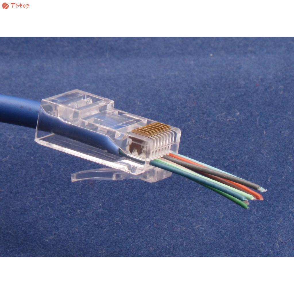 20 Pcs CAT6 Plug EZ RJ45 Network Cable Modular 8P8C Connector End Pass Through