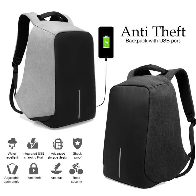 Travel backpack<>Anti Theft USB Charging backpack👉 ready stock in  malaysia👈