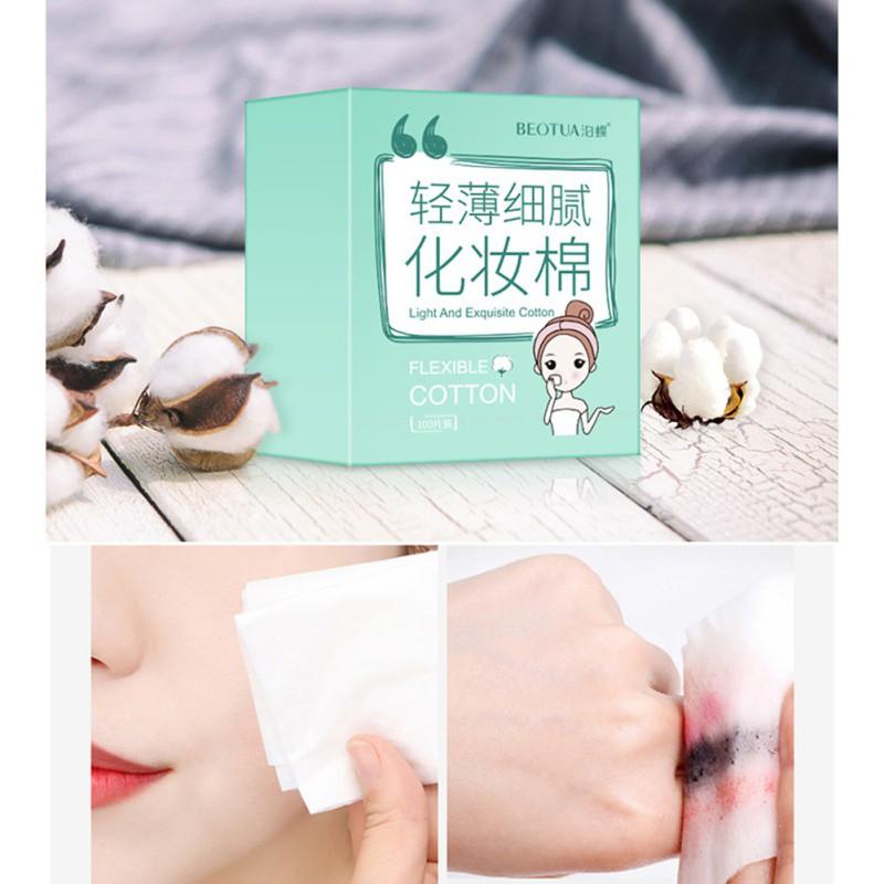 100 Pcs Set Face Cosmetic Cotton Thin Fine Texture Skin Friendly Nail Polish Remover Pads Shopee Malaysia