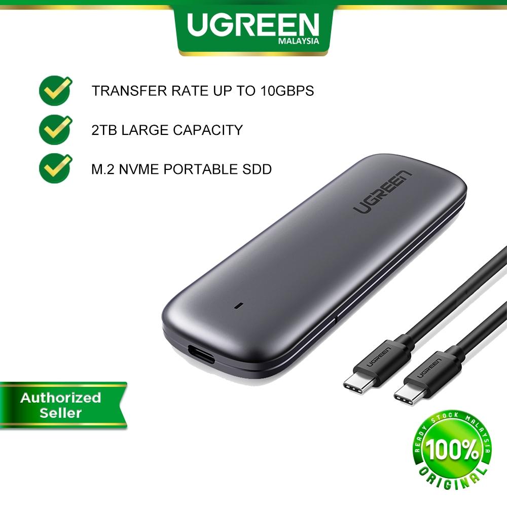 UGREEN SSD Case M.2 Enclosure 10GB USB Type C External Mobile Hard Disk Drive Box Windows MAC OS Linux Chrome OS