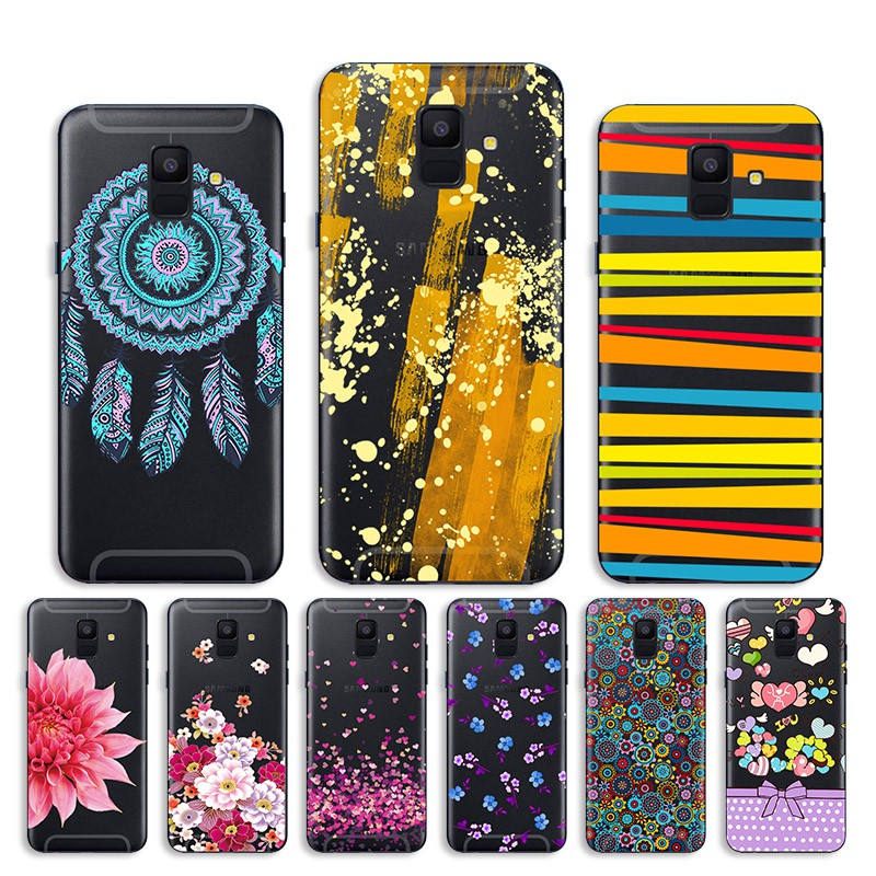 competitive price f43a1 f32e9 Samsung Galaxy J6 2018 Cover Soft Clear Hollow Painted Soft Case