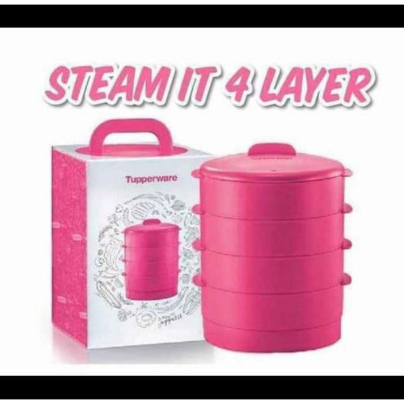 PENGUKUS Steamer Tupperware Pink Edition 4 Layer