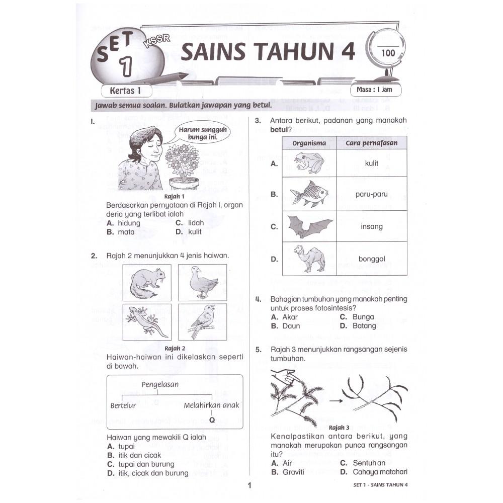 Topbooks Ilmu Didik Aktiviti Pintar Sains Dwi Soalan Objektif Subjektif Tahun 4 Shopee Malaysia