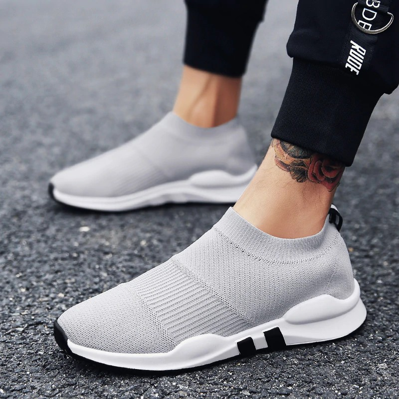 43501a23558 Weweya New Sock Running Shoes Men Brand Sport Sneakers Male Breathable  Slip-On Trainers 2018 Jogging zapatillas hombre d
