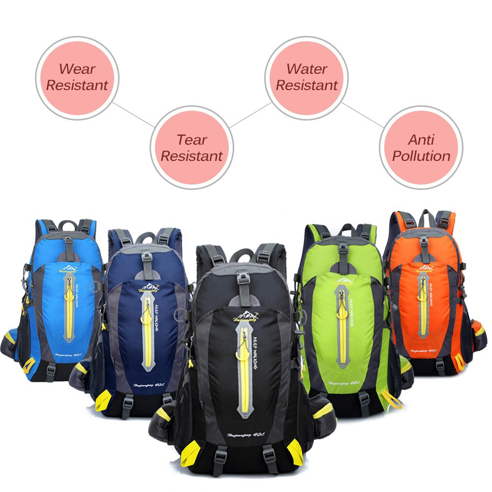 9b216fb72c Lixada 50L Water Resistant Outdoor Sport Hiking Backpack