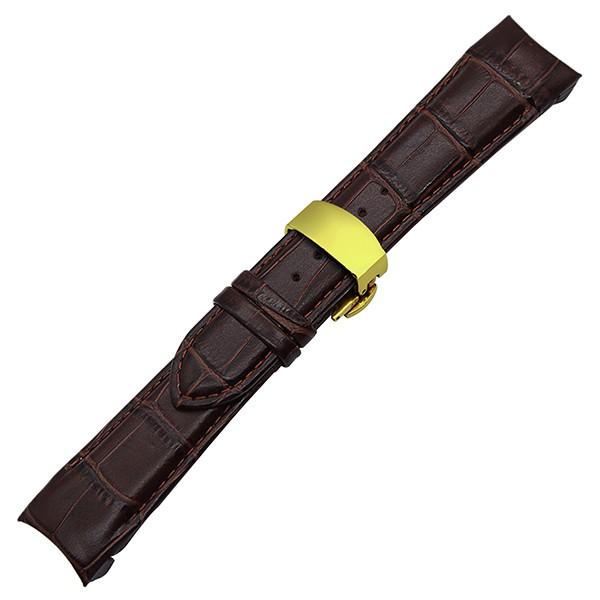 New 23mm Curved End Genuine Leather Strap Band Bracelet For TISSOT T035 BROWN