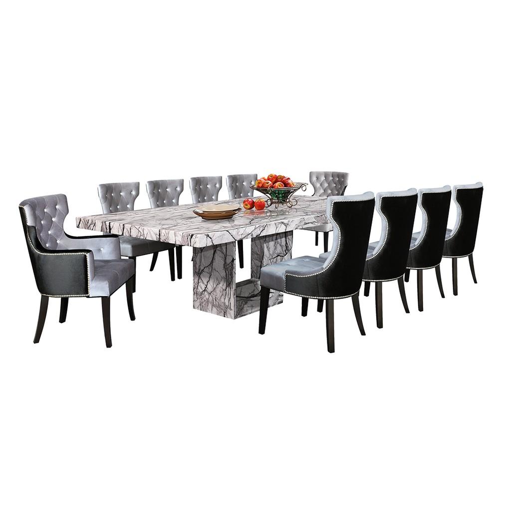 Nl Mtx51e7 Luxury Design Marble Dining Table Set 1 10 Shopee Malaysia