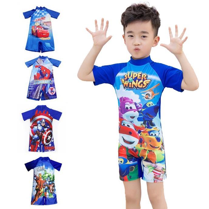 4c2a922304 Children swimming trunks swimsuit boys flat cute cartoon | Shopee Malaysia