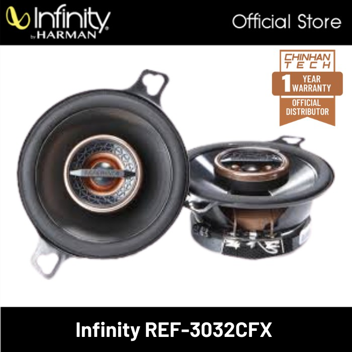 """Infinity Reference REF-3032cfx 3-1/2"""" 2-way car speakers"""