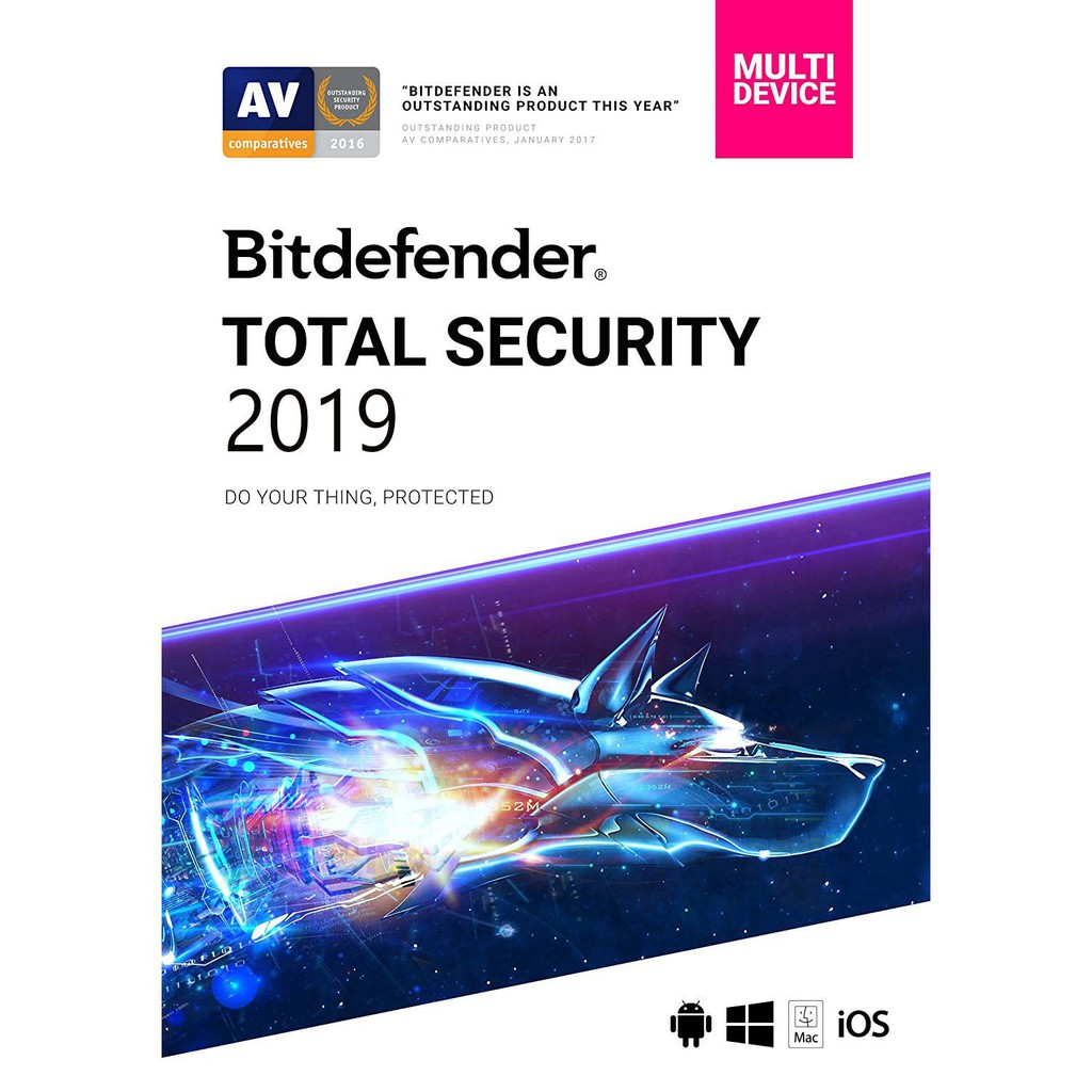 Bitdefender Total Security Multi Device 2019 | 5 Device 1,2,3,4,5 Years