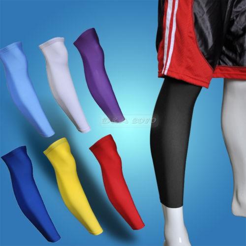 Sport Football Basketball Golf Cycling elastic Leg Knee Long Sleeve 8 Colors