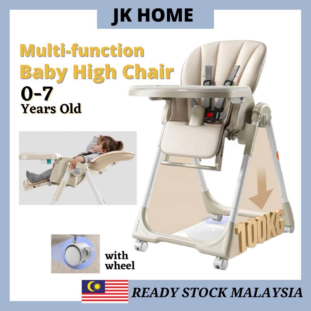 JK HOME Premium Baby Safety Dining High Chair Multifuncation Height Adjustable Kerusi Kanak