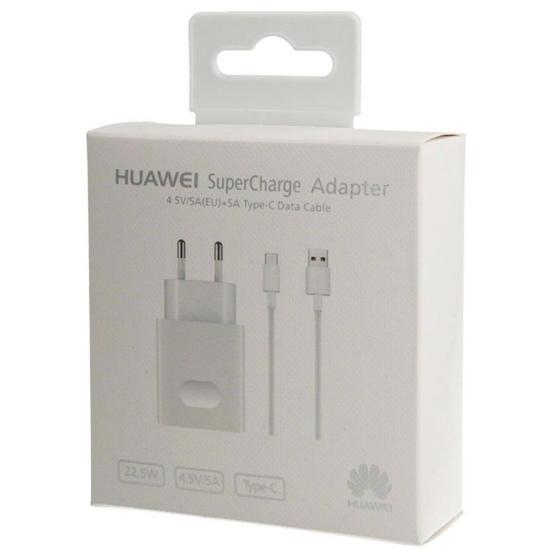 100% Orginal HUAWEI Super Charge Adapter with 5A Type C Cable 22.5W