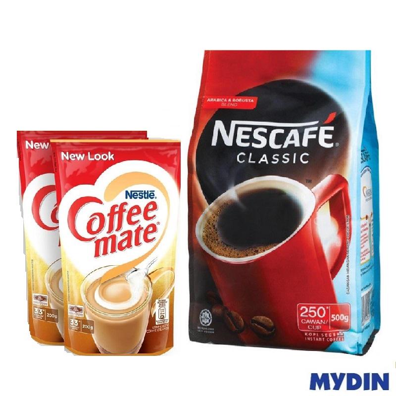 SET - Nescafe (500g) and Coffee-Mate Creamer (200g x 2)
