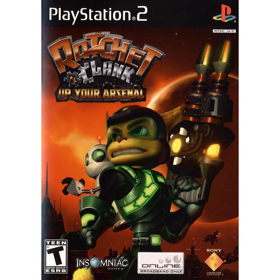 PS2  Ratchet&Clank: Up Your Arsenal / Size Matters / Going Commando / R&C 2 / R&C 3 [Burning Disk]