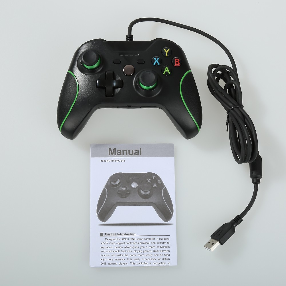 USB Wired Controller Gamepad Dual Vibration for DOBE XBOX ONE PC ...