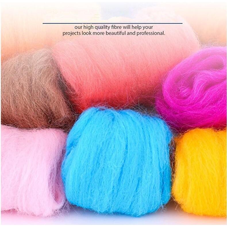 36 Colors Wool Roving Needle Fetling Merino Wool Top DIY Craft Materials 36Colors/×5g