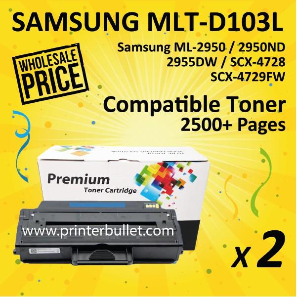 2 unit Samsung 103L / MLT-D103L High Quality Compatible Toner Cartridge