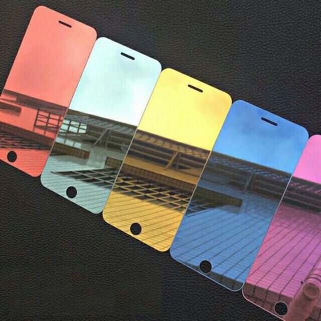 HOT ITEM!! Full Cover Colorful Mirror Tempered Glass Chameleon for iPhone Model | Shopee Malaysia