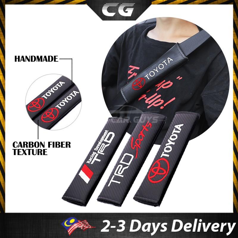 2Pcs RS Racing Carbon Fiber /& Embroidery Car Seat Belt Cushions Shoulder Pads